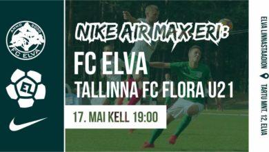 Photo of Nike ja FC Elva kutsuvad Esiliiga mängule 17. mai kell 19:00 Elva linnastaadion. Tõotab tulla hooaja kõige tulisem andmine.