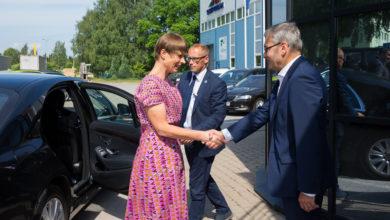 Photo of GALERII: President Kersti Kaljulaid külastas eelmisel nädalal Saint-Gobaini tehast Elvas