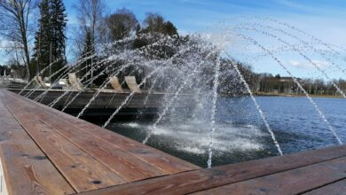 Photo of Arbi järve purskkaev säeti esimesena tööle!